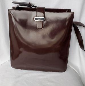 Furla Brown Leather Tote Handbag